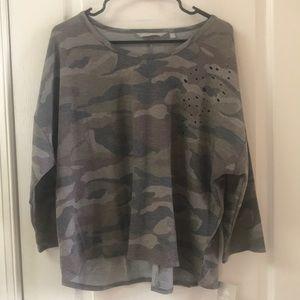 Harmony Balance camo 3/4 sleeve t-shirt XL
